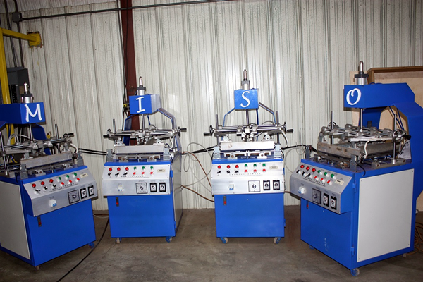 Blister edge folding machines